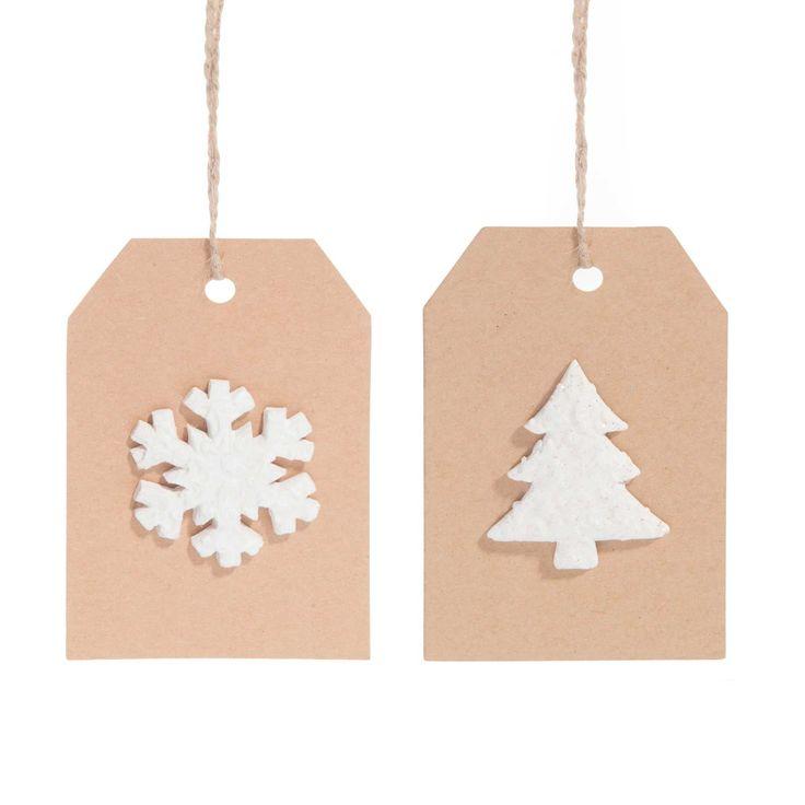 2 decorazioni di Natale etichette da appendere OSLO   - Venduto x 12