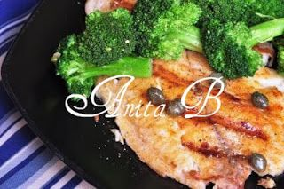 Scarsdale Diet Recipes: Pan Grilled Tilapia with Lemon Caper Dressing