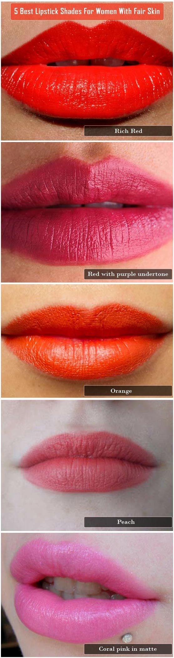 5 Best Lipstick Shades For Women With Fair Skin