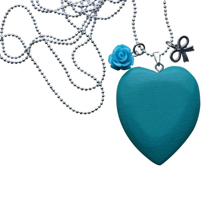 Ketting WOODEN LOVE - Fairway Groen