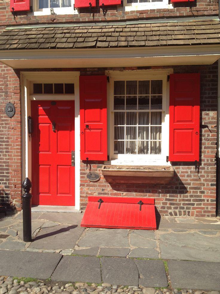 Cute little red house in Philadelphia