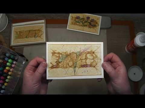 Tea Bag Cards - YouTube wie kann ich aus gebrauchten Teabags/Teebeuteln interessante Postkarten zaubern?