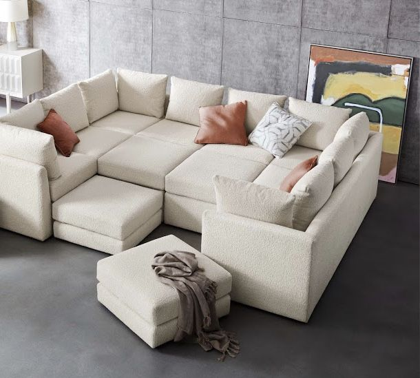 Dr Pitt Sectional A Comfortable Place To Get Cozy Together Well Suited To Grown Up Cocktail Hours Or Kids Movie Ni In 2020 Sectional Sofa Sectional Sectional Couch