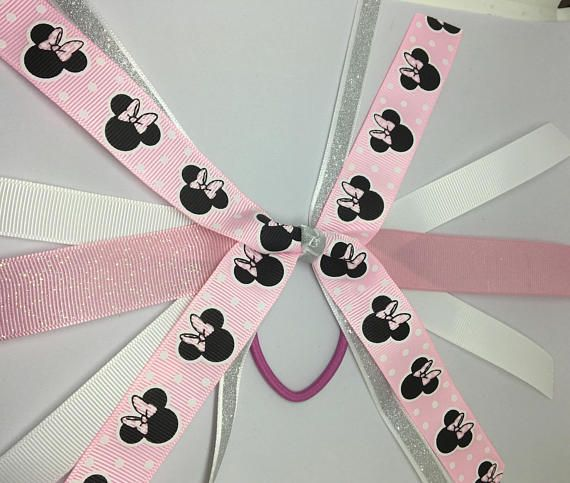 how to make a minnie mouse bow with ribbon