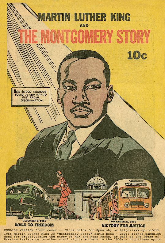 best montgomery bus boycott images bus boycott 1958 comic book the montgomery story published by fellowship of the reconciliation teaching the non violent principles used by mlk jr and other