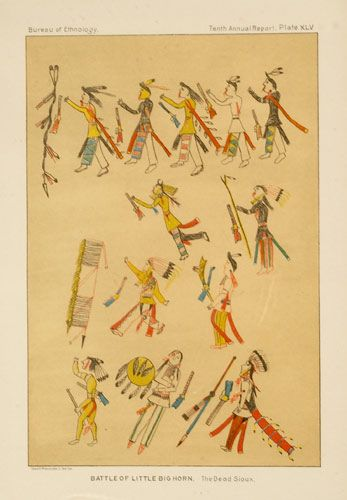 Battle of Little Bighorn. The Dead Sioux, BAE Print, - Cowan's Auctions