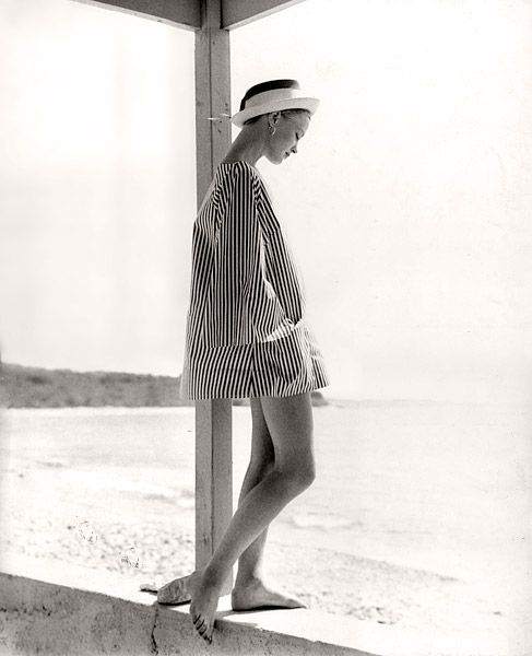 Beach Fashion, taken in St. Thomas for the FASHION OF THE NY TIMES, late 1950s by Tom Palumbo http://www.tompalumbo.com/