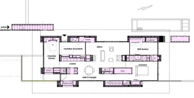 Image 16 of 17 from gallery of La Maison Etirée / Barres & Coquet. Ground Floor Plan