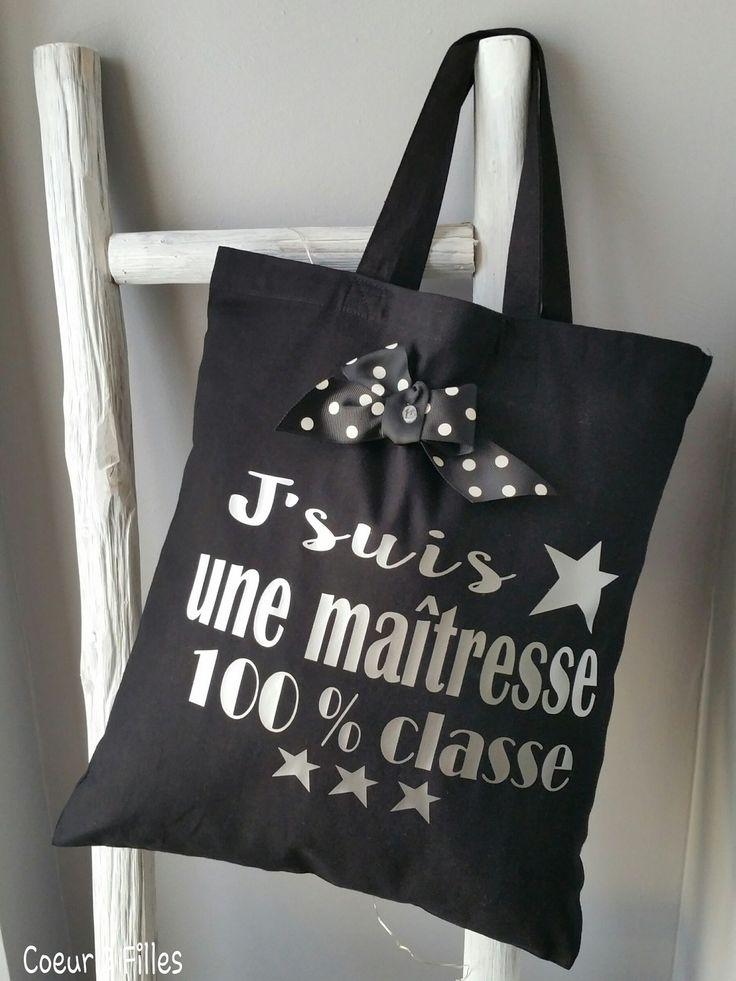 Le tote bag  spécial Noël pour maîtresses