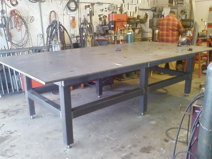 17 best images about welding table on pinterest mesas for Plan fabrication table