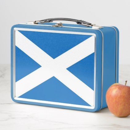Metal Stainless Lunchbox with Scotland flag - kitchen gifts diy ideas decor special unique individual customized