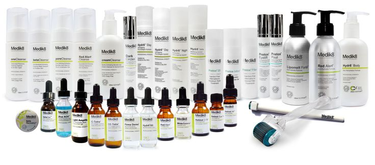 Medik8 is a BRITISH skin research company pioneering the green cosmeceutical technology of providing products suitable for sensitive skin without compromising efficacy.  NOW AVAILABLE at www.skinbiotech.com