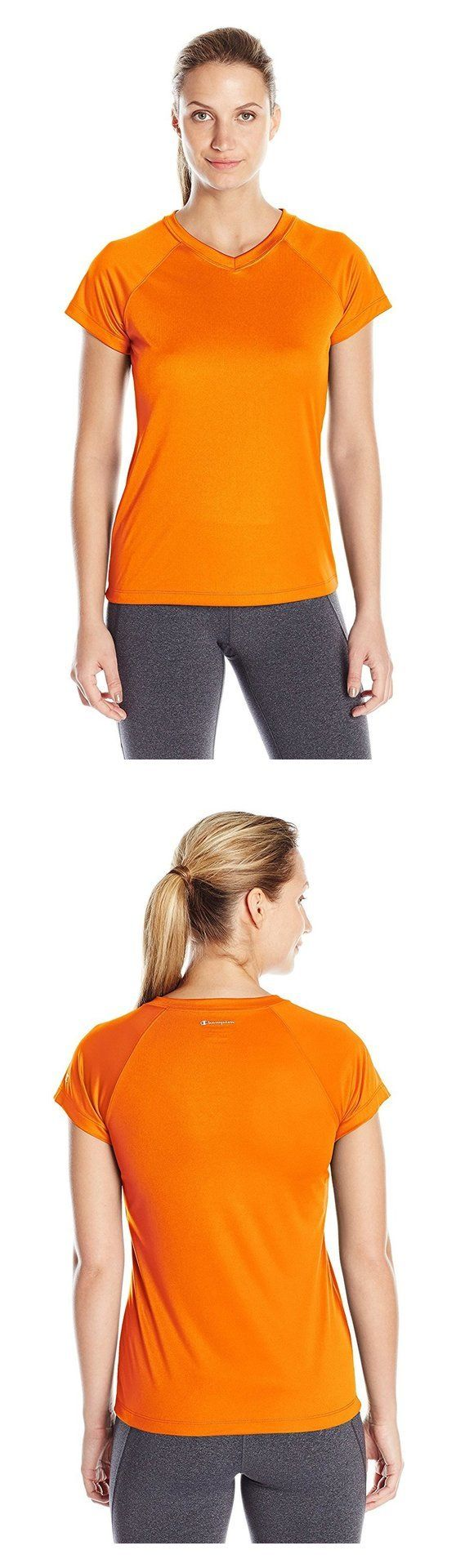 7270259b2 Champion Womens Authentic Jersey Short Sleeve V Neck T Shirt