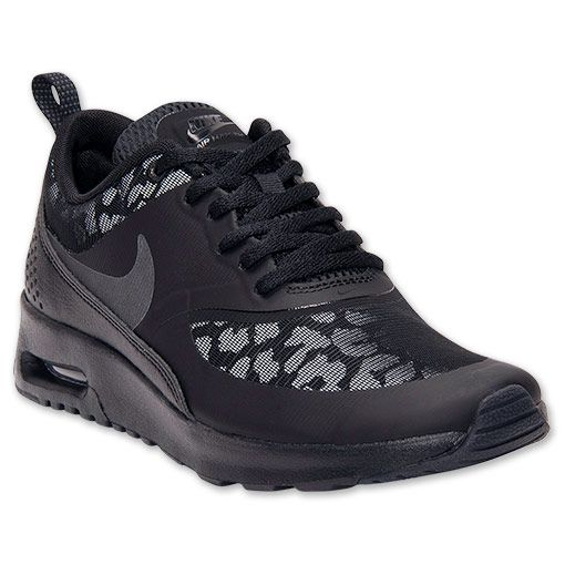Women's Nike Air Max Thea Premium Running Shoes| FinishLine.com | Black/White/Constellation