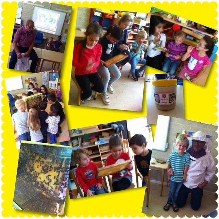 Startblok Groep 1/2b @Startblok1_2b Jun 17  Bezoek vd imker-opa van Joël! We weten nu alles over bijen+honing & we kregen een zakje bloemzaadjes mee naar huis!