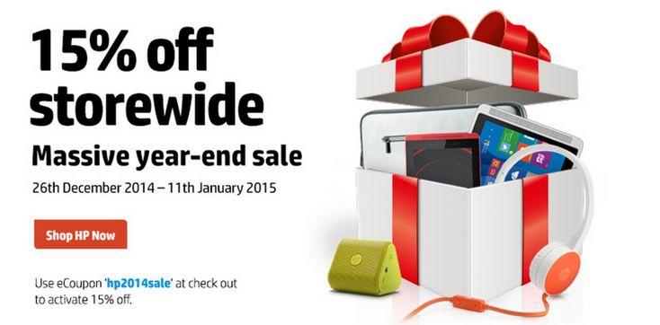 Good Deal: Get 15% off when you purchase anything from the HP Australia webstore.  HP are having an end of year sale at the moment, adding a coupon to their webstore that will give you 15% off anything in their range. This includes all their tablets, notebooks and accessories. [READ MORE HERE]