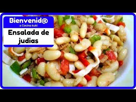 Receta de ensalada de frijoles blancos - ensalada de blanquillos - YouTube