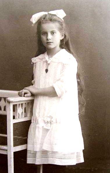 Pretty little girl in white lace