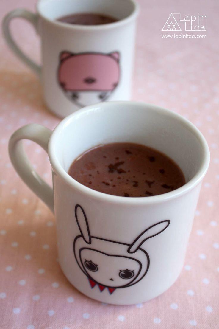 xícara, chocolate quente, caneca, porcelana, coelho, kawaii, cup, hot chocolate, porcelain, rabbit, bunny
