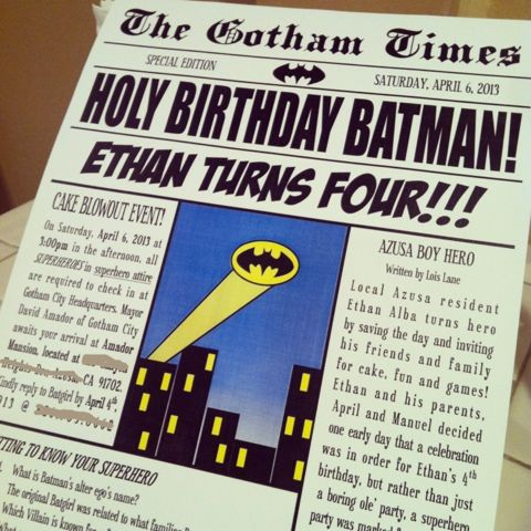 make poster size newspaper sign with Hutton stories on it for party entrance