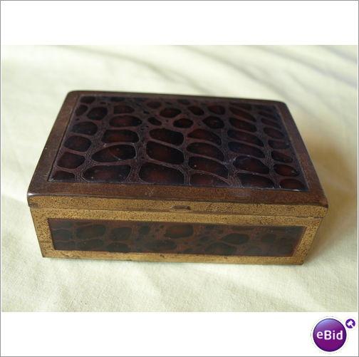 BRASS WOODEN LINED BOX on eBid United Kingdom
