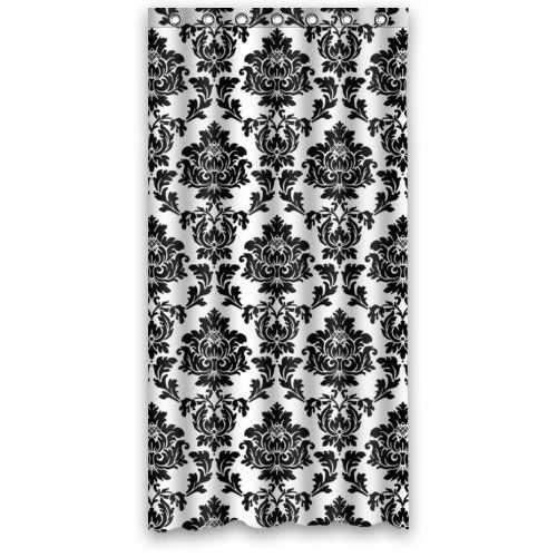 Black And White Damask Shower Curtain 13 best bathroom images on pinterest | shower curtains, bathroom