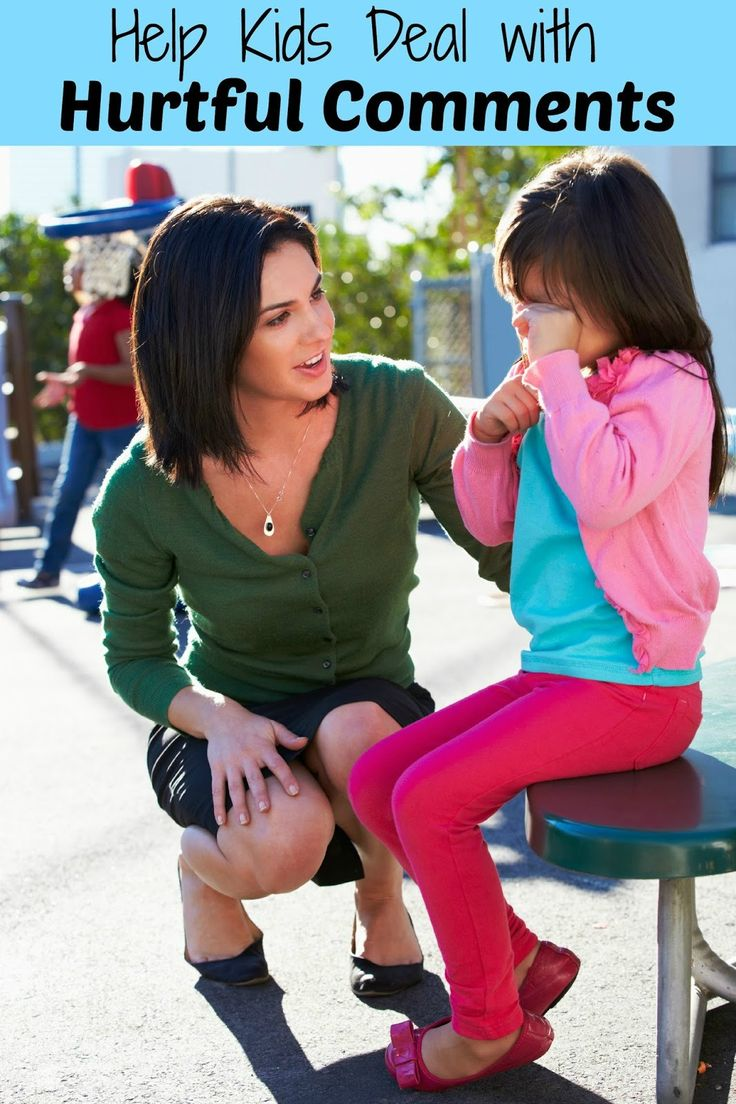 Help Kids Deal with Hurtful Comments - Tips for helping your child stand up for themselves when dealing with mean comments from other kids. A great way to help prepare your child for Kindergarten.