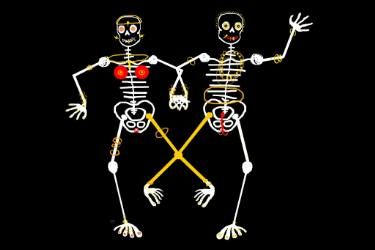 "Saatchi Art Artist Françoise Zia; New Media, ""Skeleton X"" #art"