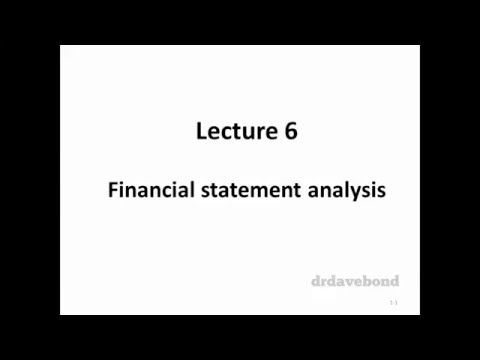 Topic 6 - Financial statement analysis - YouTube
