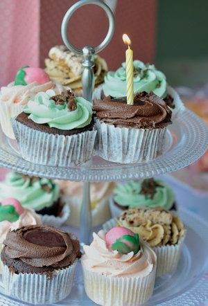 Cupcakes are an ideal first birthday cake, because they're not too big for your little one to handle.