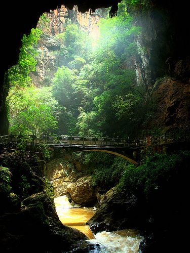 Jiuxiang Caves - Kunming, China. A sample of the view as we hiked through the series of caves. Wild beauty that took your breath away. It was one of the longest days of hiking, but SO worth it.