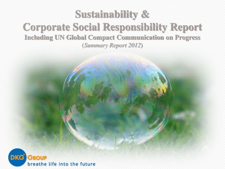 CSR Report 2012 (pdf) -  DKG Group