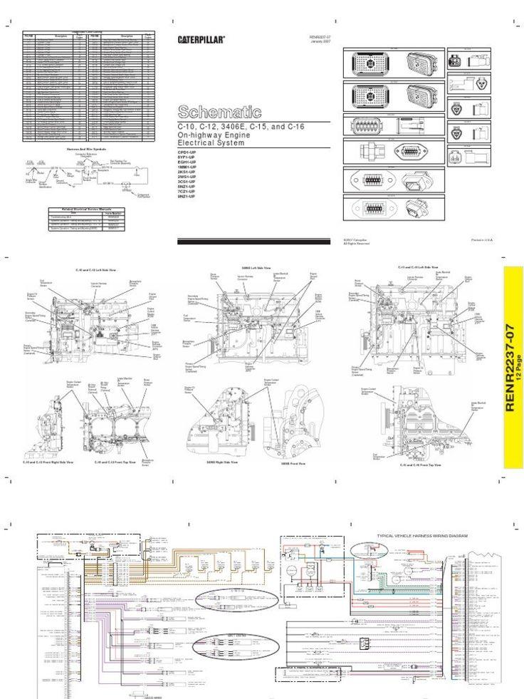 Diagrama Electrico Caterpillar 3406e C10 C12 C15 C16 2