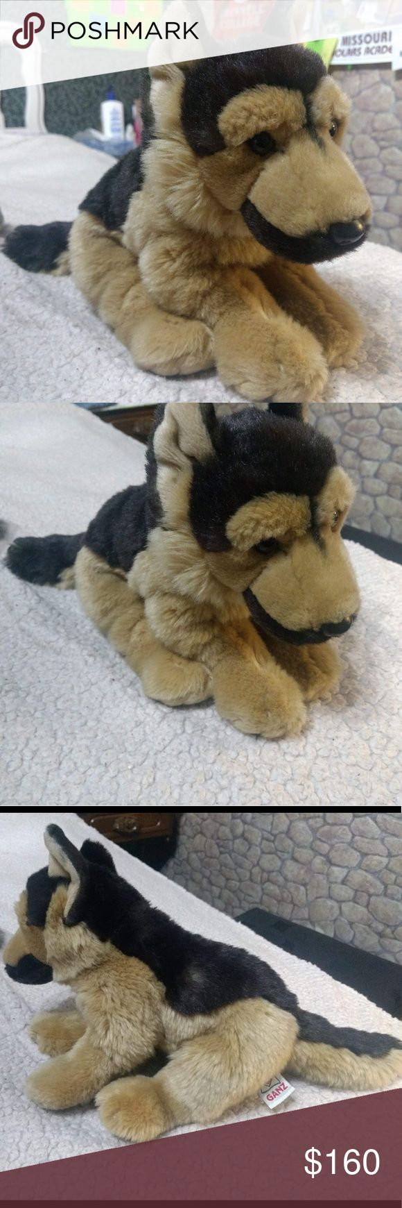 ULTRA RARE Ganz Signature Webkinz German Shepherd VERY RARE large German Shepherd plush. Very good condition with no flaws. No tag. Perfect for collectors. These guys are going for upwards of $200 on eBay, so take this opportunity while it lasts!  His name is Blitz, he is very brave, and he was the last one at Justice when I was 10 so he is very close to my heart!  Shoot me an offer and bundle to save! Also, I have LITERALLY 100+ Webkinz and will be more than willing to add to a bundle if I…