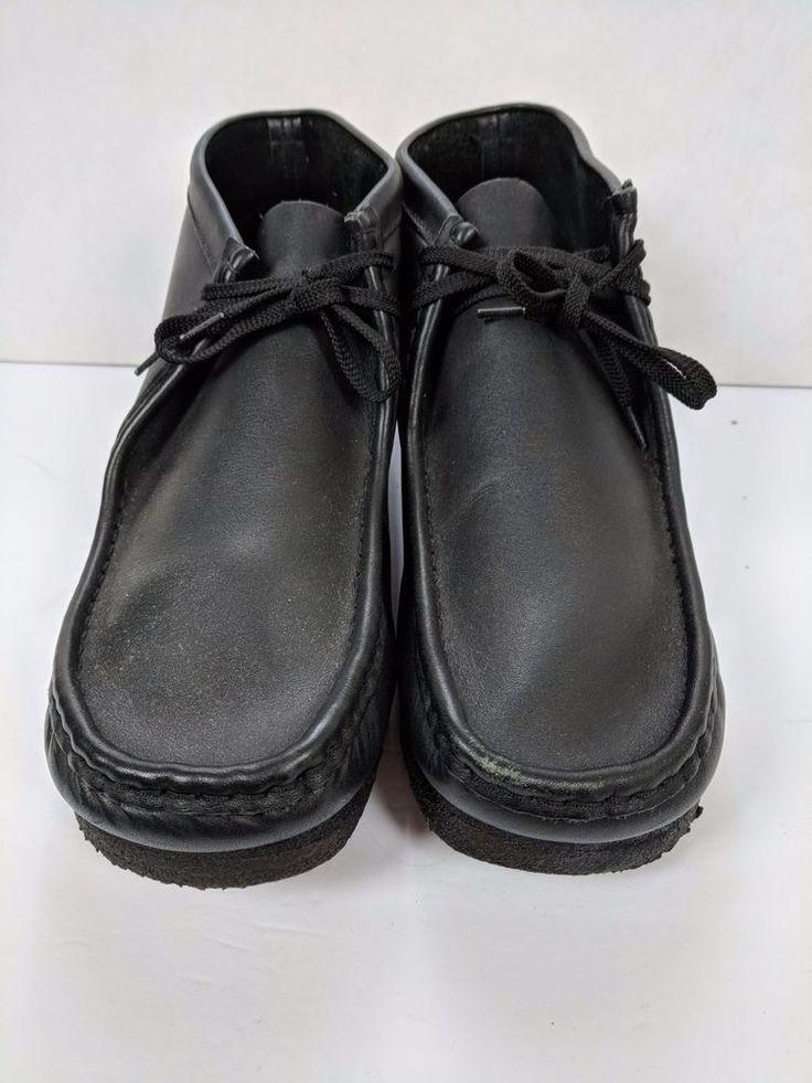 Clark's Wallabies Leather 14 M Black Mens Shoes Gum Soles Lace-up #Clarks #Oxfords