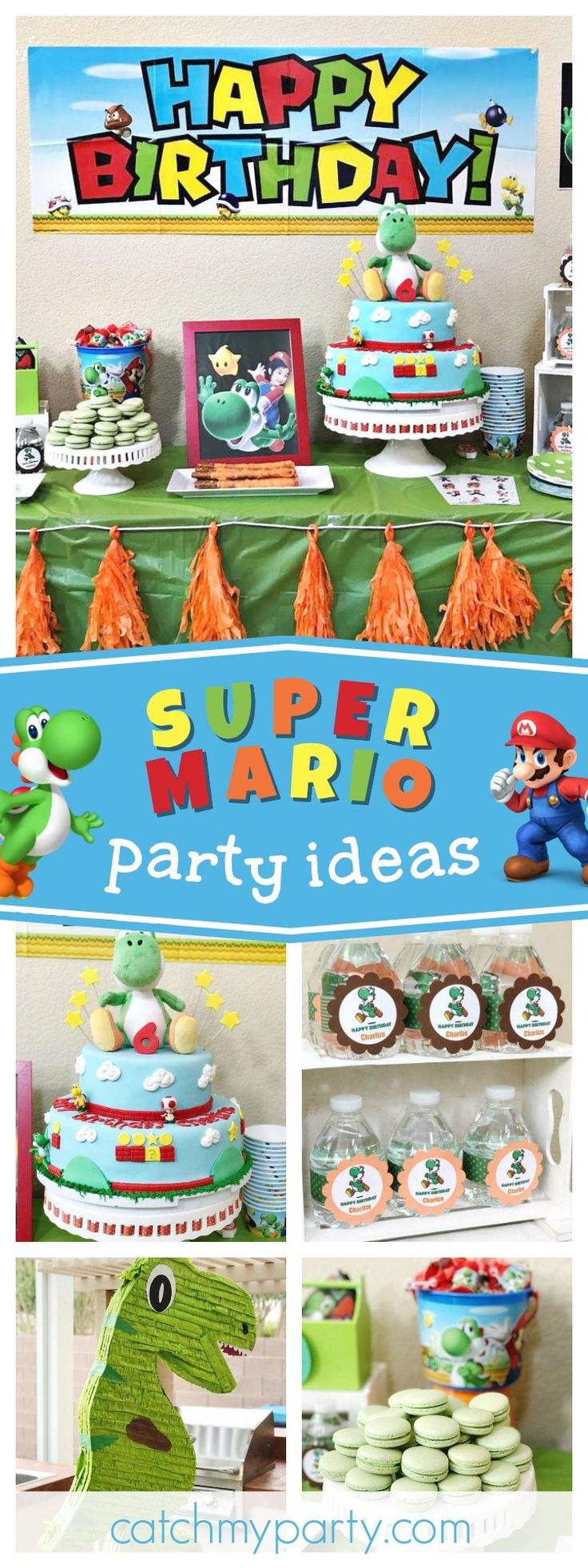Check out this awesome Super Mario birthday party The birthday cake is so much fun