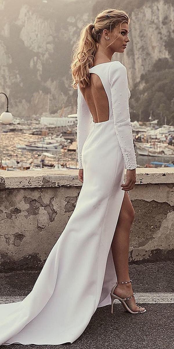15 Second Wedding Dress Ideas You Ll Like Wedding Forward Second Wedding Dresses Split Wedding Dress French Wedding Dress