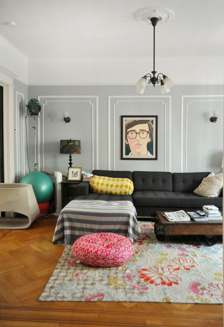 >>> the portrait and the pattern, textiles mix | Emma & Mike's Whimsical Home in Brooklyn