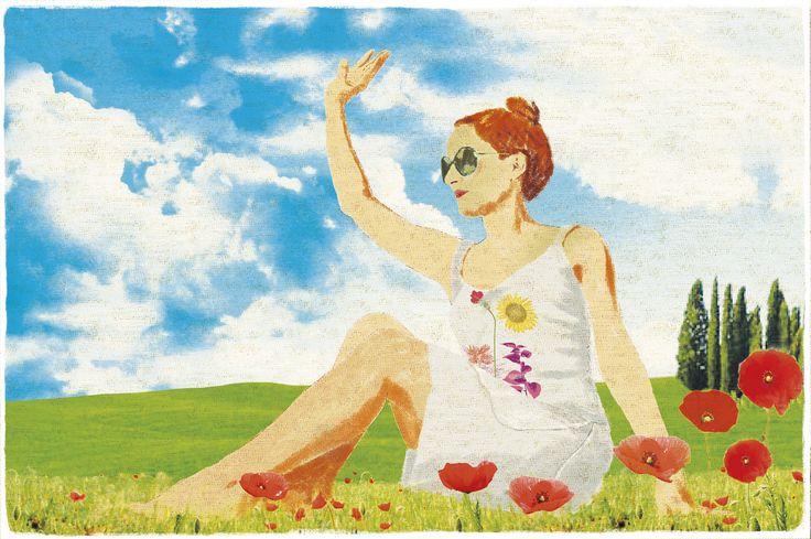 """""""Sotto il Girasole della Toscana"""" by Mamatayoe. Postcard #4. PV14."""