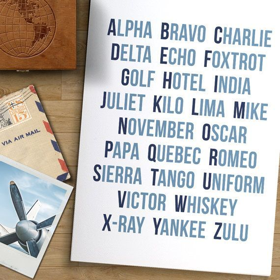 Modern Aviation Alphabet Art Print The Pilot S Phonetic Alphabet