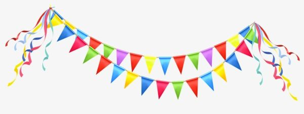 Triangular Flags Color Birthday Triangle Png Transparent