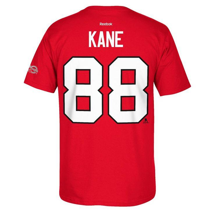 Men's Reebok Chicago Blackhawks Patrick Kane 2017 Stanley Cup Playoffs Player Tee, Size: Medium, Red