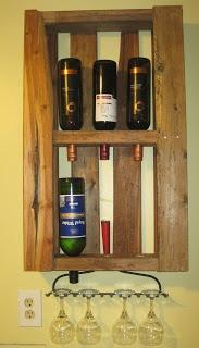 pallet/rake wine rack
