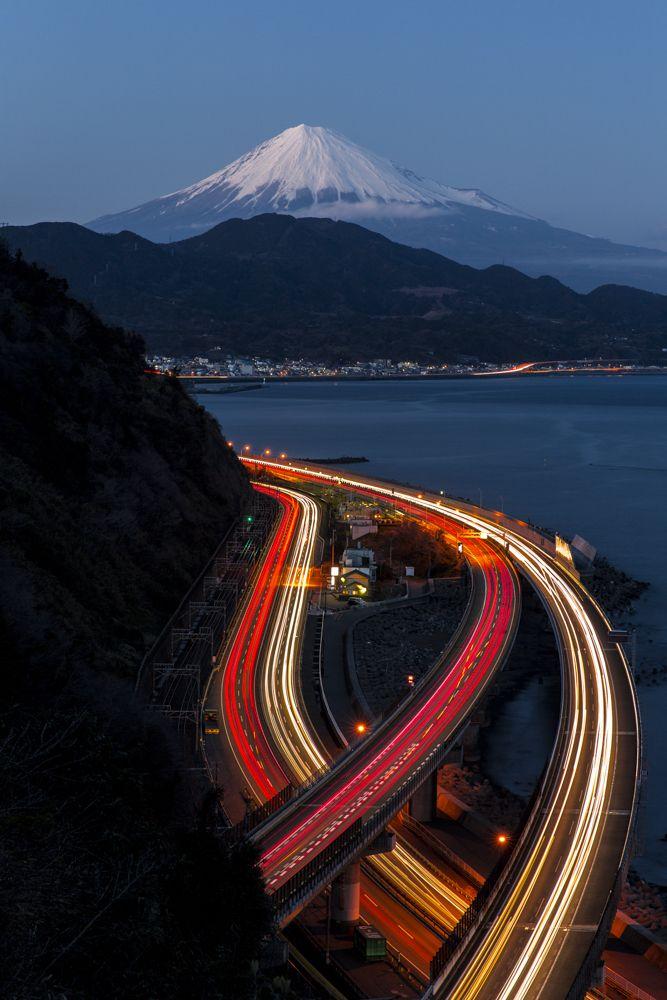 富士三昧275 夜景スポット巡り⑨ Fuji,Japan