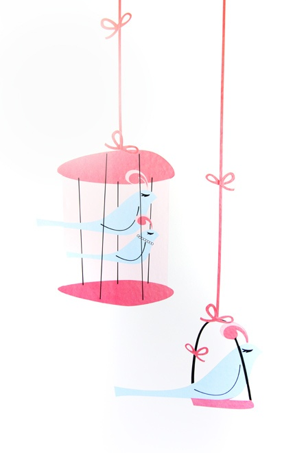 Birdcage decals perfect for a preteen's bedroom  http://www.theglow.com/pati-dubroff/?i#7