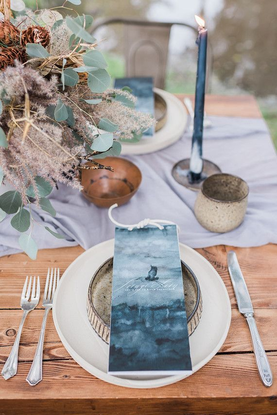 Indigo coastal wedding inspiration