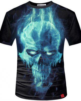 Men s 3D Skull Printed T-Shirt - Shop Buy Online - Safe Online ... c58d45e82