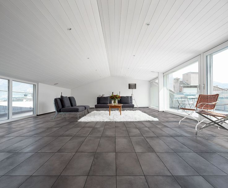 #Love the raw beauty of these concrete look #Design Antracite matt finish porcelain #tiles.