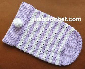 Free baby crochet pattern sleep cozy usa