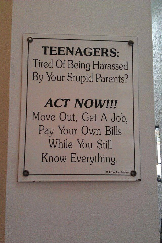 For the teenagers hanging around . . .